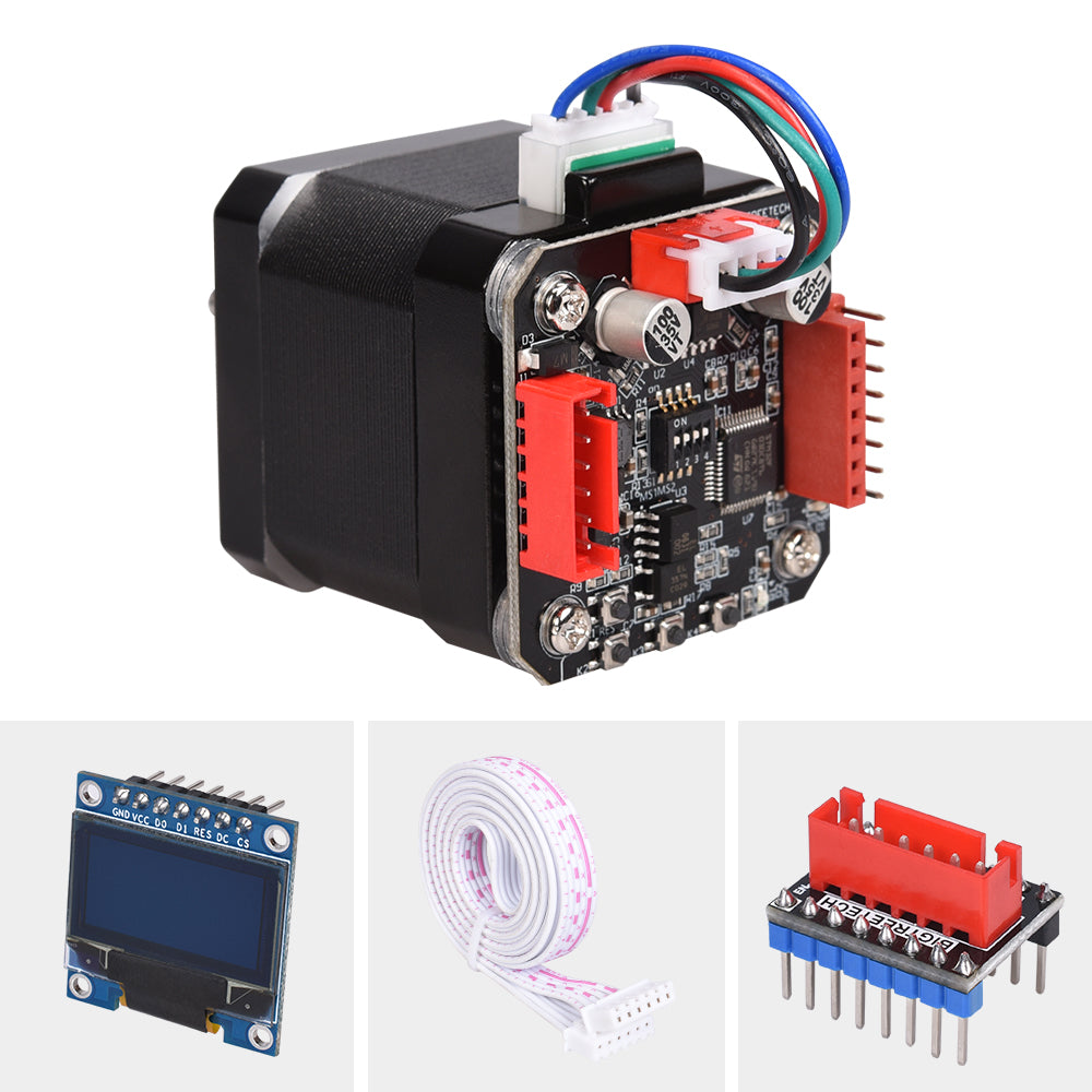 BIGTREETECH S42B v1.1 42 Stepper Motor Closed Loop Driver Board with OLED  Display