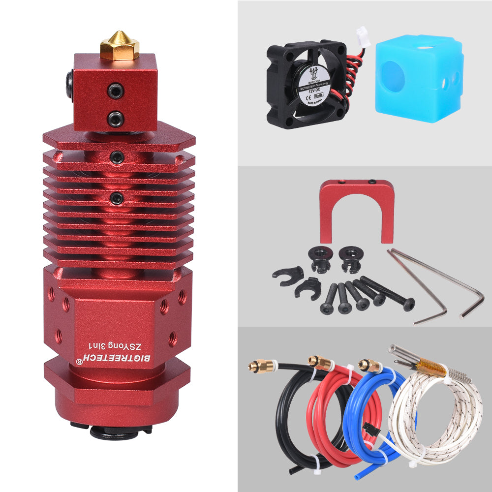 BIGTREETECH 3 In 1 Out Hotend Bowden Extruder 3D Printer Parts Three Colors Switching Multi-color 12/24V J-head Filament Nozzle