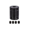 2/4PCS Flexible shaft Coupler 5*8mm 5*5mm CNC Stepper Motor Aluminum Alloy Flexible Coupling Black/Silver For 3D Printer Parts