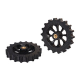 BIQU B1 3D Printer Accessories 4PCS Hot Bed Leveling Wheel Plum Blossom Hand-tightening Adjustment Nut M4*50MM Black Injection
