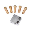 3D printer parts 3D Volcano hot end set heater block+NTC Thermistors  with DuPont head +nozzle pack for 1.75/3 mm