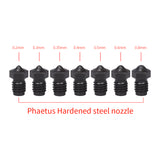 Phaetus V6 Hardened Steel Nozzle V6 Nozzle 1.75MM Filament 0.2/0.4/0.5/0.6/0.8mm 3D Printer Parts For E3D V6 Hotend Prusa i3 MK3