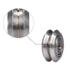 5pcs/Lot BIQU Reprap Openbuilds V-type wheel with or without 625ZZ Bearings Stainless steel Metal Double V Pulley Gear Aluminum For 3D Printer