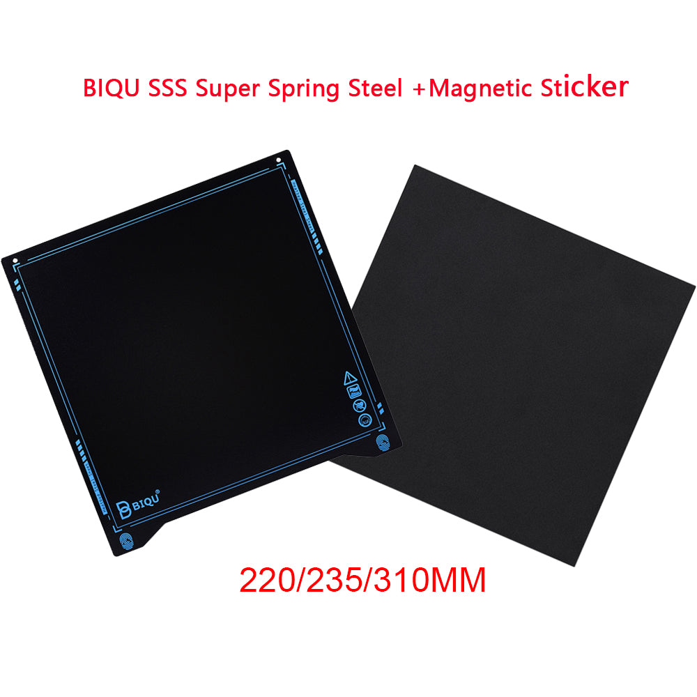 BIQU SSS Super Spring Steel Sheet+Magnetic Sticker Flex 235*235MM Hot Bed For Ender 3/5 CR10 I3 Mega 3D Printer Parts