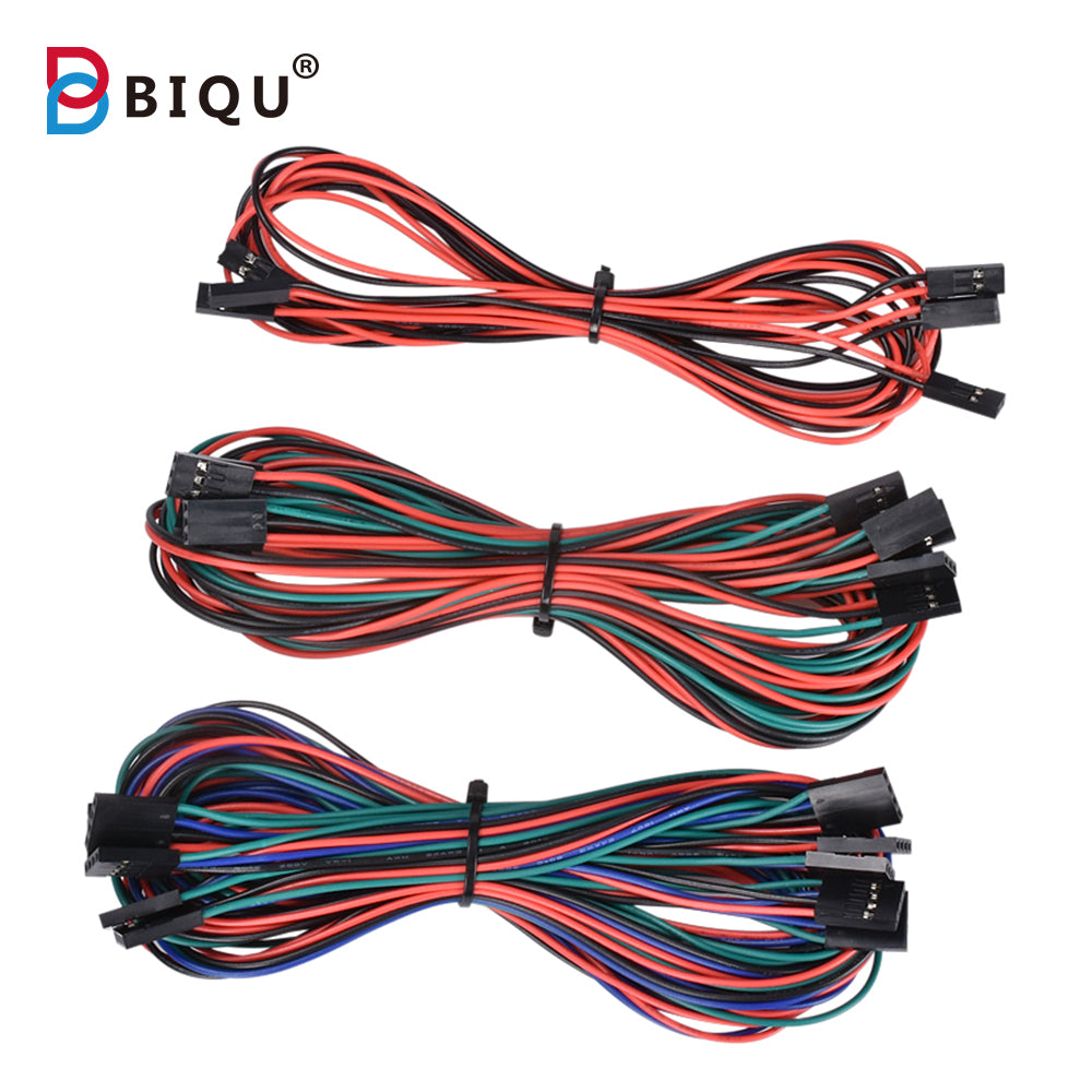 New Arrival Optional 14PCS Complete Wiring Cables Set 2Pin/3pin/4pin wire Dupont For 3D Printer Reprap RAMPS 1.4 Endstops Thermistors Motor Littlebits