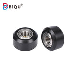 10 PCS Openbuilds Plastic wheel POM Without or With MR105 Bearings Small Models Passive Round wheel Idler Pulley Gear perlin wheel - Biqu.Store