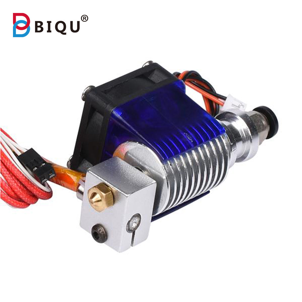 3D V6 Long Distance J-head Hotend Single Cooling Fan for 1.75mm/3.0mm Bowden Filament Wade Extruder 0.3/0.4/0.5mm Nozzle