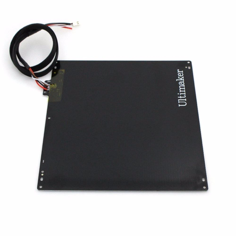 NEW 3D printer accessories DIY Ultimaker 2 UM2 hot bed / aluminum alloy UM2 heated thermistor bed plate with PT001 And  cable
