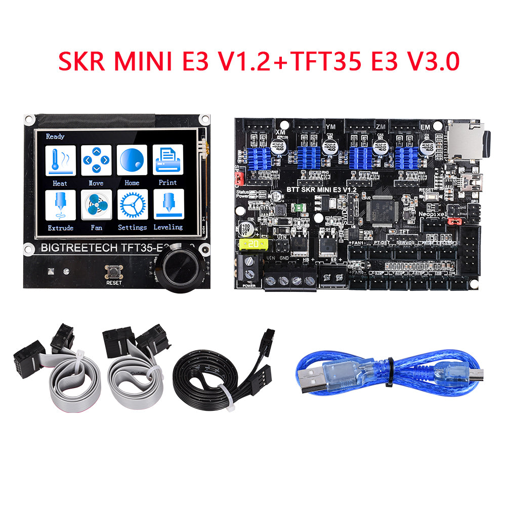BIGTREETECH SKR MINI E3 V1.2 32 Bit Control Board +TFT35 E3 V3.0 Integrated TMC2209 UART For Ender 3