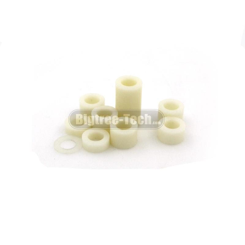 50PCS Free shipping 3D printer UM2 Ultimaker2 DIY nylon washers spacer Nylon isolation units 3D0174 - Biqu.Store