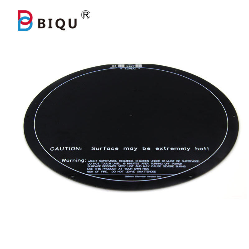 BIQU 3D Printer Headbed  310 MM*1.6MM For Kossel 3D Printers Rostock Delta Circular Heat bed Kossel heatbed thermistor bed - Biqu.Store