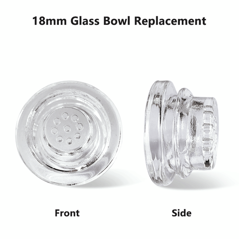 Glass bowl replacement for Waxmaid Didi silicone dry pipe
