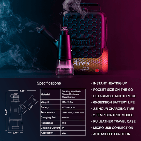 Waxmaid vaporizer Ares dab rig