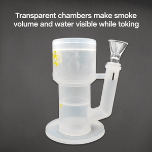 Transparent chamber of Waxmaid Crystor double percolator water pipe