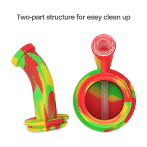 Two-part structure of Waxmaid Magneto S Silicone Honeycomb Percolator Water Pipe