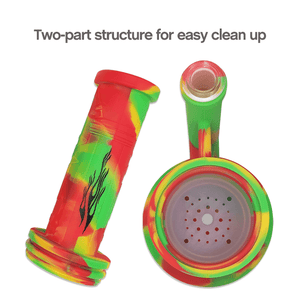 Two-part structure of Waxmaid Magneto Silicone Honeycomb Percolator Water Pipe