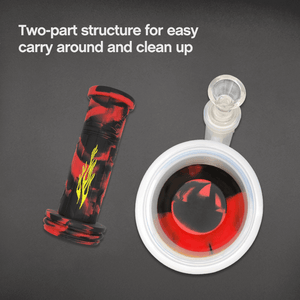 Two part structure of Waxmaid Crystor double percolator water pipe