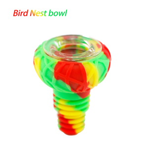 Waxmaid 14-18mm Bird Nest Silicone Glass Bowl-Rasta
