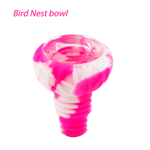 Waxmaid 14-18mm Bird Nest Silicone Glass Pink Bowl