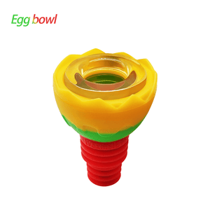 Waxmaid 14-18mm Egg Silicone Glass Bowl-Rasta