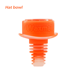 Waxmaid 14-18mm Hat Silicone Glass Bowl-Translucent Orange