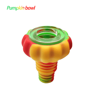 Waxmaid Pumpkin silicone glass bowl pipe-rasta