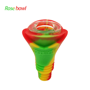 Waxmaid 14-18mm Rose Silicone Glass Bowl-Rasta