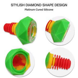 Waxmaid 14mm 18mm Diamond Silicone Glass Bowl Details