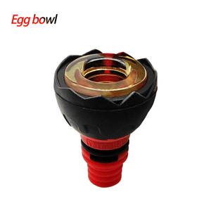 Waxmaid 14-18mm Egg Silicone Glass Bowl-Black Red
