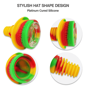 Waxmaid 14mm 18mm Hat Silicone Glass Bowl Detail