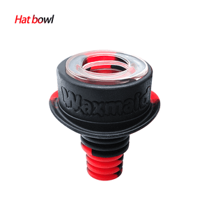 Waxmaid 14mm 18mm Hat glass silicone bowl-Black Red