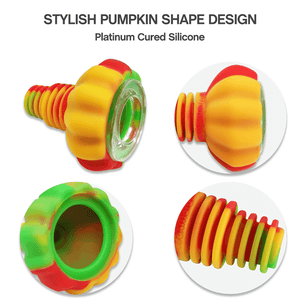 Waxmaid 14mm 18mm Pumpkin Silicone Glass Bowl Detail