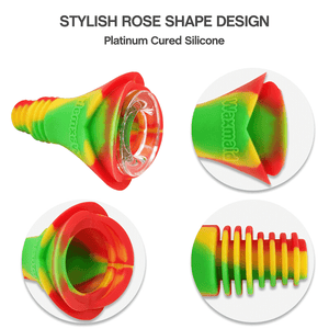 Waxmaid 14mm 18mm Rose Silicone Glass Bowl Detail
