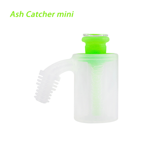 Waxmaid 14mm 18mm Mini Ash Catcher- Glow in the dark green