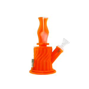 Waxmaid 3-IN-1 silicone water pipe-Translucent Orange
