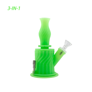 Waxmaid 3-IN-1 hookah water pipe glow in the dark green