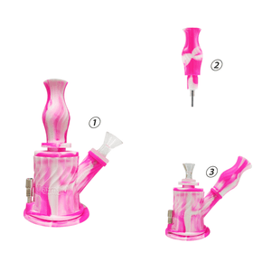 Waxmaid 3-IN-1 Silicone Water Pipe is also a Nectar Collector
