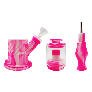 Waxmaid 4-IN-1 dual percolators silicone water pipe bubbler