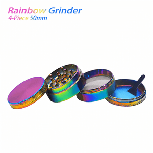Waxmaid 4-Piece Rainbow Dry Herb Grinder 50mm