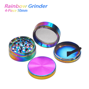 Waxmaid 4-Piece Rainbow Herb Grinder 50mm