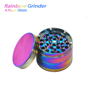 Waxmaid 4 Piece Rainbow Dry Herb Grinder 50mm