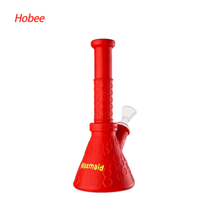 Waxmaid Hobee Silicone Water Pipe-Red