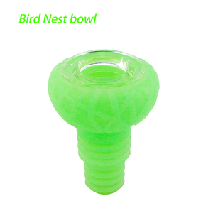 Waxmaid 14-18mm Bird Nest Glow in the dark Green Silicone Glass Bowl