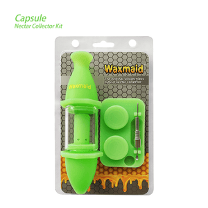 Waxmaid Silicone Glass Nectar Collector Kit Glow in the Dark Green