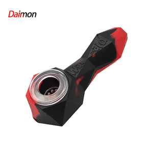 Waxmaid Daimon Silicone Handpipe-Black Red