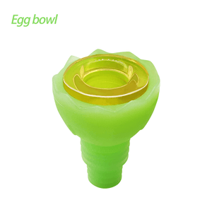 Waxmaid 14-18mm Egg glow in the dark green silicone glass bowl