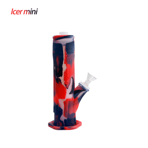 Waxmaid Freezable Icer mini waterpipe-Translucent Black Red