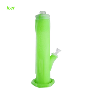 Waxmaid Freezable Icer glow in the dark green smoking water pipe