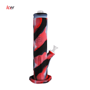 Waxmaid Freezable Icer waterpipe-Translucent Black Red