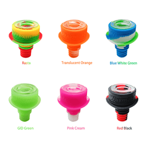 Waxmaid 14mm 18mm Hat glass silicone bowls in vivid colors